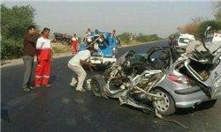 تصادف 3 خودروی حامل زائرین اربعین/ انتقال 7 مصدوم به نزدیکترین مرکز درمانی