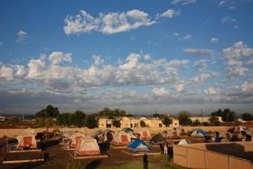 بی خانمان های آمریکایی در اردوگاهی در نیومکزیکو