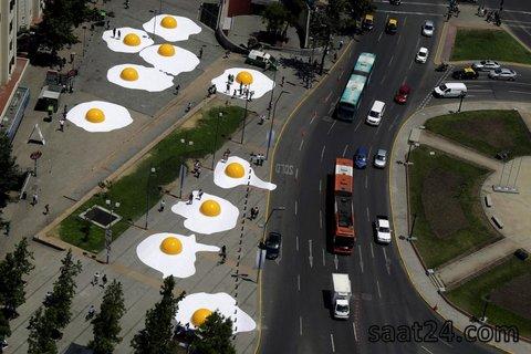 یک کار هنری در سانتیاگو شیلی