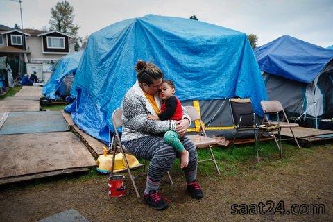 بی خانمان آمریکای در سیاتل نزدیک واشنگتن
