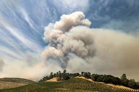 دود ناشی از آتش سوزی در کالیفرنیا