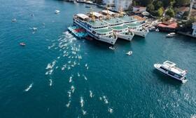 مسابقه شنای عبور از تنگه بسفر که کمیته المپیک ترکیه برای سی و دومین سال برگزار کرد