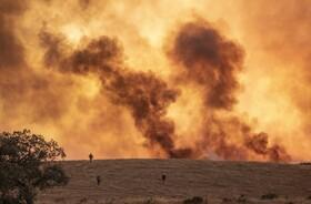 آتش سوزی مراتع در اسپانیا