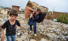 آوارگان سیل چاریکار در افغانستان