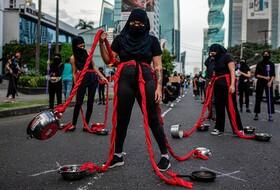 تظاهرات زنان در پاناما علیه فساد و نابرابری جنسیتی در این کشور