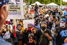 تظاهرات موافقان و مخالفان ترامپ در آمریکا