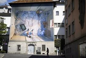 جشنواره عکس ویوی در سوئیس که هر سال برپامی شود امسال در فضای باز برگزار شده است