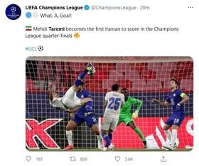 تمجید فوتبال جهان ازگل طارمی به چلسی