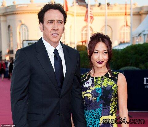 نیکلاس کیج و همسرش