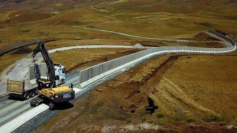 ترکیه و ساخت دیوار بتنی  در مرزش با ایران